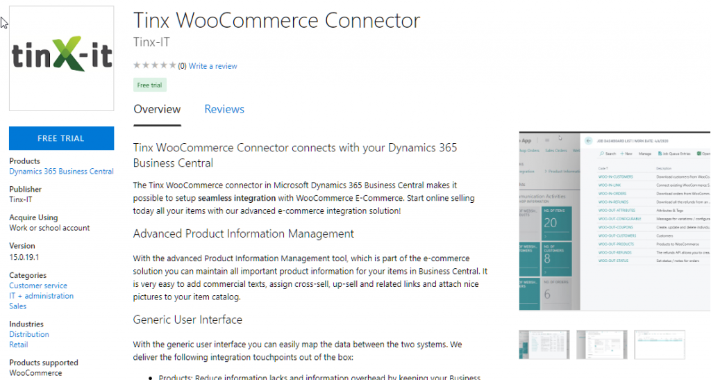 Tinx WooCommerce Connector